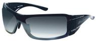 Harley-Davidson® Women's Sun Bling Shiny Black Shield Sunglasses HDS8003BLK-3F