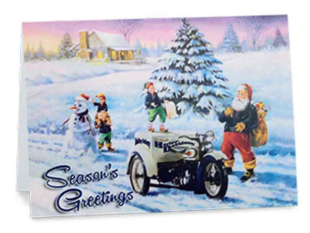 Harley-Davidson® Biker Santa Boxed Set of 12 Christmas Greeting ...