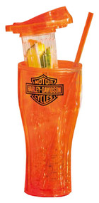 Harley-Davidson® Infuser Travel Cup, Bar & Shield Logo, Orange 2AIS4900 - Wisconsin Harley-Davidson