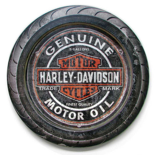 Harley-Davidson® 23 in Round 2 Piece Genuine B&S Wooden Sign CU118A-HDFI-2/PC-C