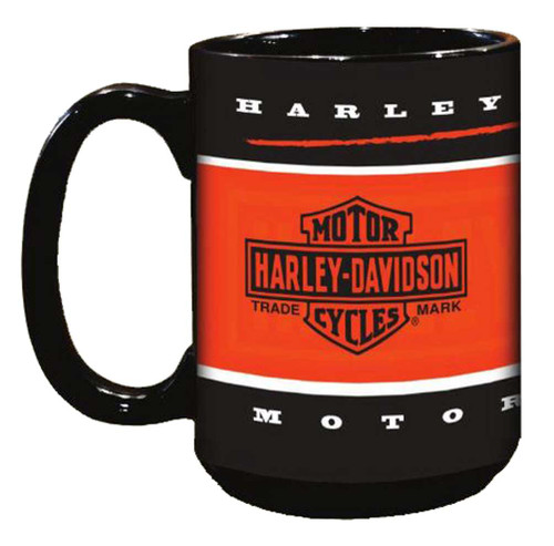 Harley-Davidson® Branded Bar & Shield Coffee Mug, 15 oz. Black HD-BRN-2004