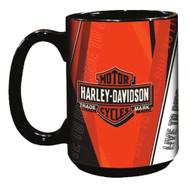 Harley-Davidson® Live To Ride Bar & Shield Coffee Mug, 15 oz. Black HD-LTR-2004