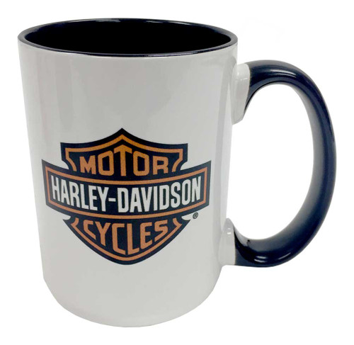 Harley-Davidson® Bar & Shield Logo Coffee Mug, 15 oz. White HD-BSS-1772B