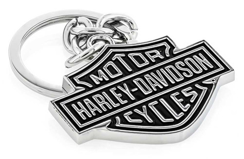 Harley-Davidson® Black Bar & Shield Key Chain HDKD14