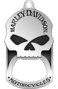 Harley-Davidson® Willie G. Skull Bottle Opener Dog Tag Necklace/KeyChain 8002749 - Wisconsin Harley-Davidson