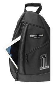 Harley-Davidson® Men's #1 Tonal RWB Sling Backpack - Black BP2067S-Black - Wisconsin Harley-Davidson