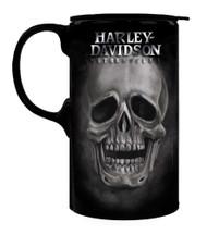 Harley-Davidson® Tall Boy Travel Latte Mug, H-D Skull, Gift Box Set 3TBT4906 - Wisconsin Harley-Davidson
