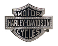 Harley-Davidson® Women's Belt Buckle Lineage Bling Bar & Shield Silver HDWBU10635 - Wisconsin Harley-Davidson