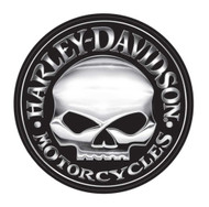 Harley-Davidson® Decal, Silver Willie G Skull Logo, X-Large 29 Inch CG4331