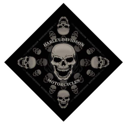 Harley-Davidson® Devour Skull Bandana Black 24'' x 24'' BA129830