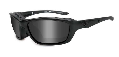 Harley-Davidson® Brick Grey Lens w/ Matte Black Frame Sunglasses HD854