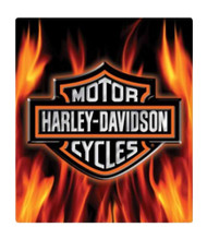 Harley-Davidson® Embossed Flaming Bar & Shield Logo Tin Sign, 13 x 15 in 2011291 - Wisconsin Harley-Davidson