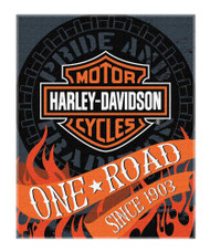 Harley-Davidson® Flares Bar & Shield Large Beach Towel, 54 x 68 inch, NW079960 - Wisconsin Harley-Davidson