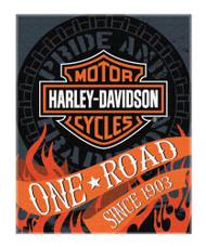 Harley-Davidson® Flares Bar & Shield Large Beach Towel, 54 x 68 inch, NW079960 - Wisconsin Harley-Davidson