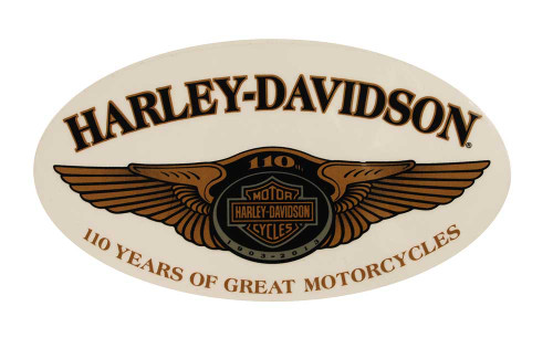 Harley-Davidson® 110th Anniversary Winged Window Cling Large DC1281776