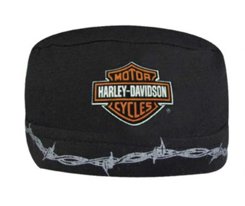 Harley-Davidson® Barbed Wire Bar & Shield Skull Cap Black SK60230