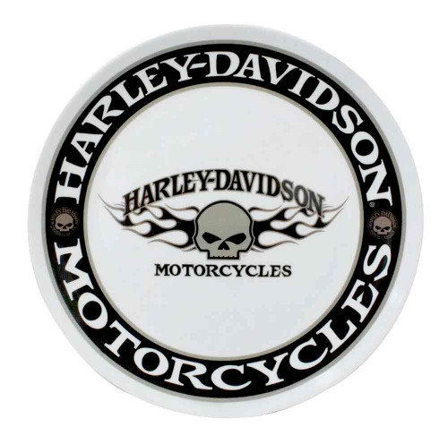 Harley-Davidson® Flaming Willie G Skull Melamine Serving Plate, 10 inch HD-HD-914