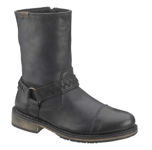 Black Harley Davidson Mens Leather Boots Constrictor Grain