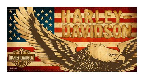 Harley-Davidson® Beach Towel, Vintage Patriotic Eagle Flag, 30 x 60 inch, 11671