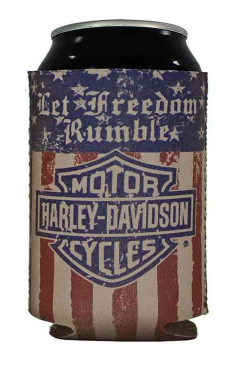Harley-Davidson® Can Wrap, Let Freedom Rumble Distress Bar & Shield Logo CF10984 - Wisconsin Harley-Davidson