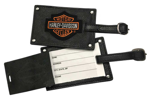 Harley-Davidson® Bar & Shield Belted Luggage Tags Leather 99301 - Wisconsin Harley-Davidson