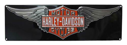 Harley-Davidson® Embossed Winged Bar & Shield Tin Sign, 23 x 7 inch 2011031