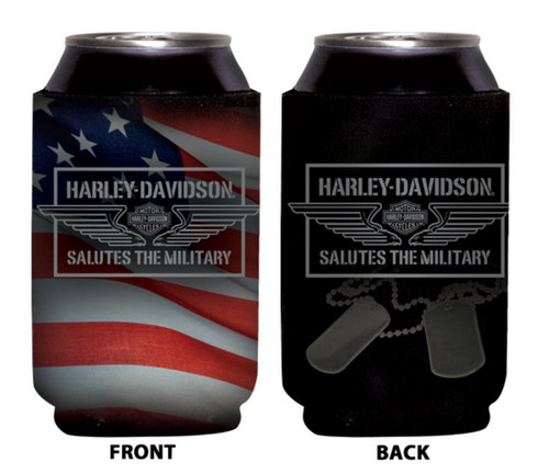 Harley-Davidson® Can Koozie, H-D Tribute American Flag, Fold-Up CF127484