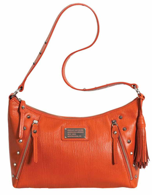 Harley Davidson Womens All Bark Orange Shoulder Bag AB77331L-ORG
