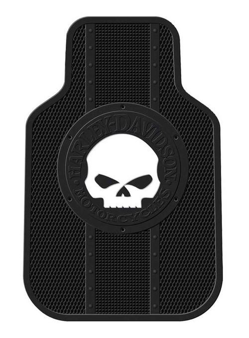 Harley-Davidson® Floor Mats Willie G Skull Universal-Fit Front Set of 2 Mats 1476