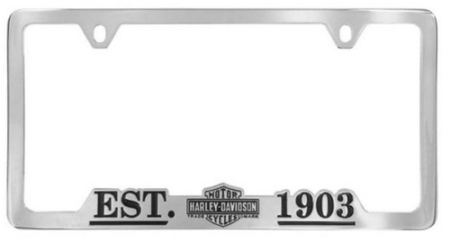 Harley-Davidson® 1903 Vintage Bar & Shield License Plate Frame Chrome HDLFC98