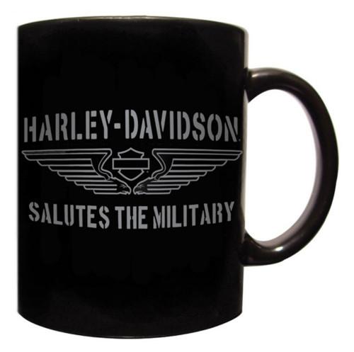 Harley-Davidson® Coffee Mug, H-D Tribute Salutes The Military, Black CM127430