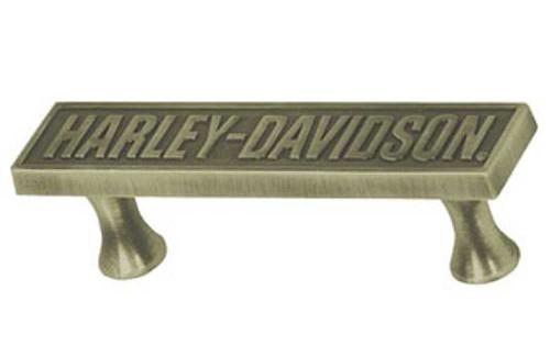 Harley-Davidson® Bar Font Pull Hardware, Antique Brass HDL-10127