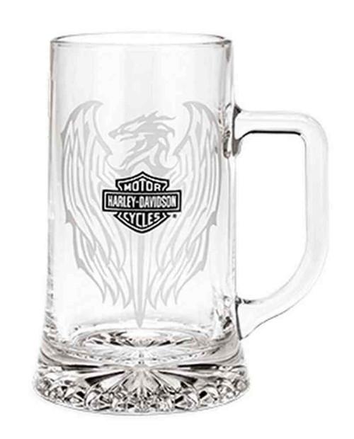 Harley-Davidson® Beer Glass 17.5 oz. Tankard Mug, Clear Glass. 96806-16V