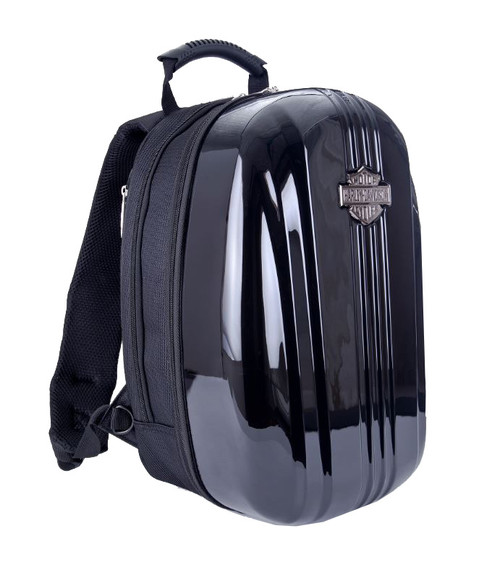 Harley-Davidson® Athalon Molded Backpack Hard Black Shell 16x12x8 99917 - Wisconsin Harley-Davidson