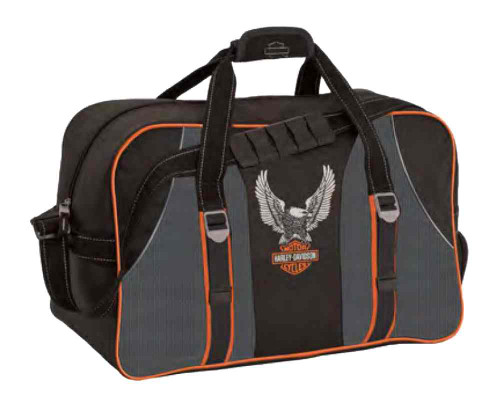 Harley-Davidson® Carry-All Bag, Up-Wing Eagle Bar & Shield Logo, Black 99305