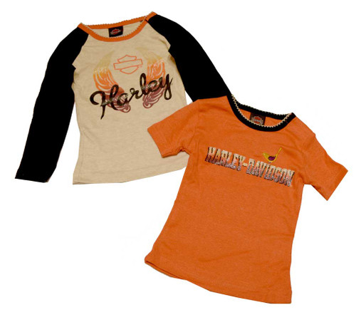 Harley-Davidson® Baby Girls' T-Shirts, Infant Long & Short Sleeve T-Shirt 3312376