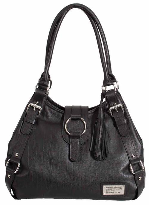 Harley Davidson Womens Black All Bark Bucket Bag AB7701L-Black