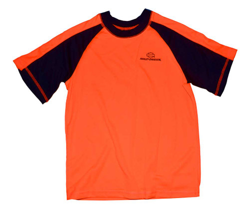 Harley-Davidson® Big Boys' Mesh Shirt, Performance Tech T-Shirt, Orange 3391518
