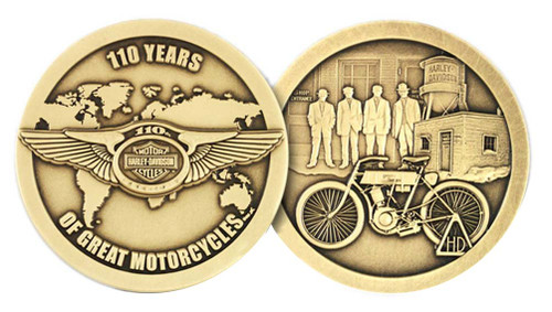 Harley-Davidson® 110th Anniversary 1.75 In. Coin w/ Card Limited Edition HDMC0008