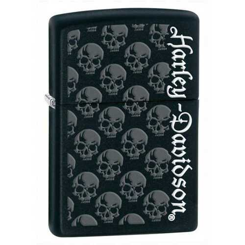 Harley-Davidson® Classic Zippo Lighter Matte Black Skulls 28264