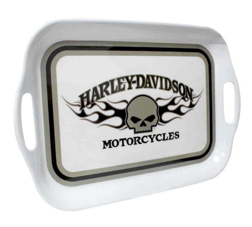 Harley-Davidson® Flaming Willie G Skull Melamine Serving Tray, 16 inch HD-HD-912