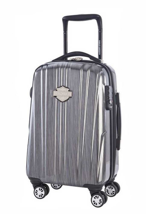 Harley-Davidson® 21 Inch Carry-On, Light Weight Wheeled, Steel Gray 99922-STL/GRY - D