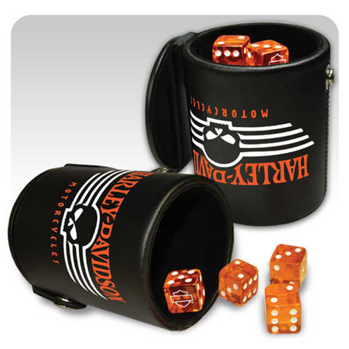 Harley-Davidson® Dice & Cup 605