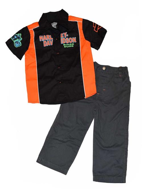 Harley-Davidson® Baby Boys' 2-Piece Pant Set, H-D Shirt & Pants Set 3362382 - D