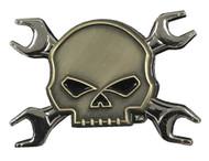 Harley-Davidson® Willie G Skull Wrench Crossbones Logo Pin, 1.75 x 1.25 in 181125 - Wisconsin Harley-Davidson