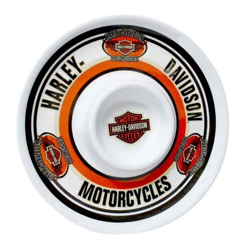 Harley-Davidson® Chip N Dip H-D Bar & Shield Melamine Plate, 12 Inch HD-HD-907