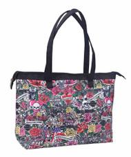 Harley-Davidson® Shopper Tote, H-D Tattoo Print Shoulder Bag, Pink 99914-TAT