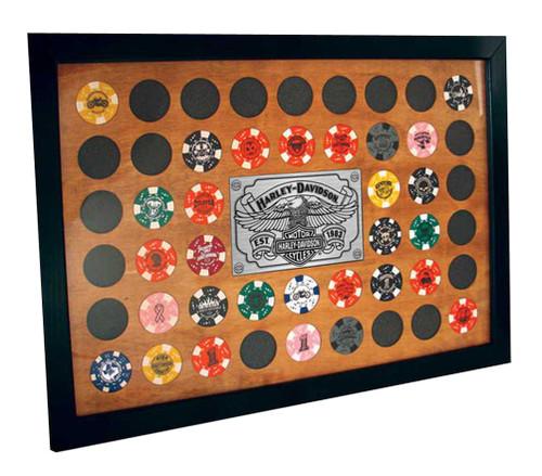 Harley davidson 48 poker chip frame casino fishing pier seaside nj