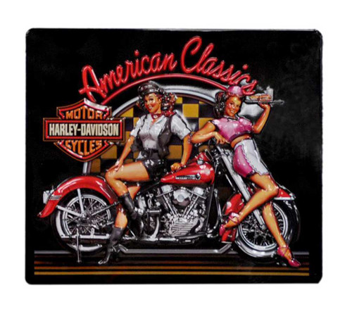 Harley-Davidson® American Classics Babes Tin Sign 15 x 13 Inch Black 2010561