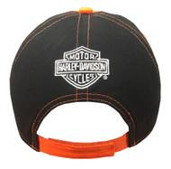 Wisconsin Harley-Davidson® Bar & Shield Baseball Cap, Orange & Black BCCUS0302 - Wisconsin Harley-Davidson